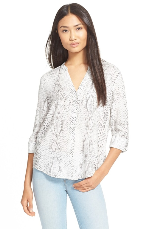Anabella D Snake Print Roll Sleeve Blouse by Soft Joie in The Boy
