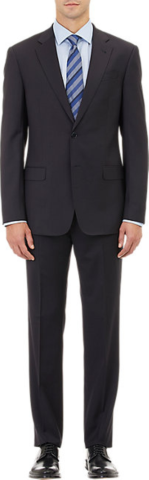 Twill Two-Button Suit by Armani Collezioni in She's Funny That Way
