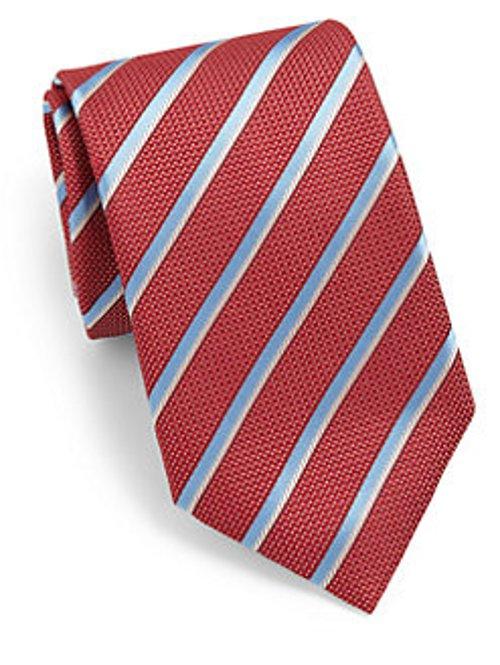 Striped Silk Tie by Canali in Shutter Island