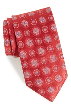 Medallion Silk Tie by Canali in Billions