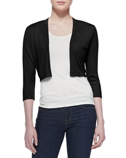 Silk-Cashmere Shrug Bolero by Neiman Marcus Cashmere Collection in New Girl