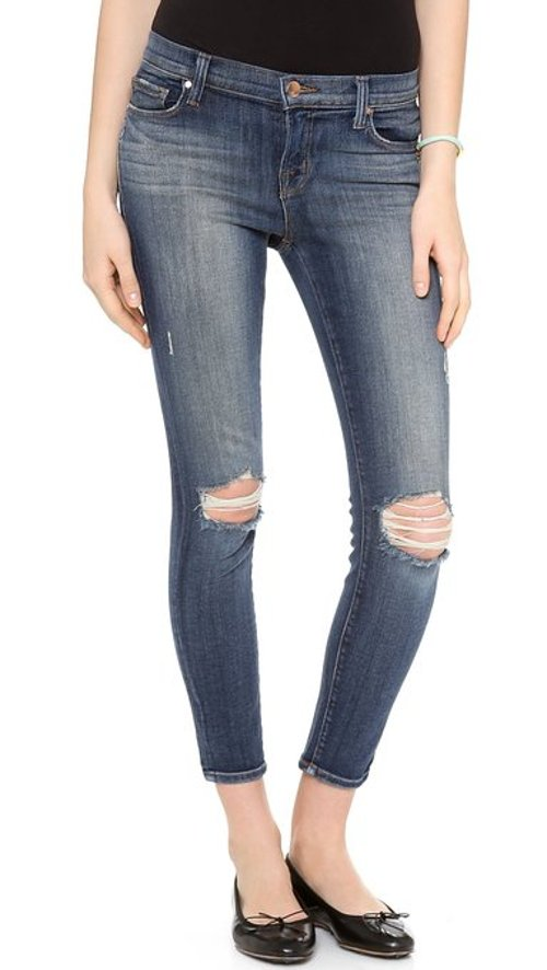 Women's Midrise Capri Jeans by J Brand in If I Stay