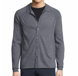 Berner New Sovereign Collared Cardigan by Theory in Quantico