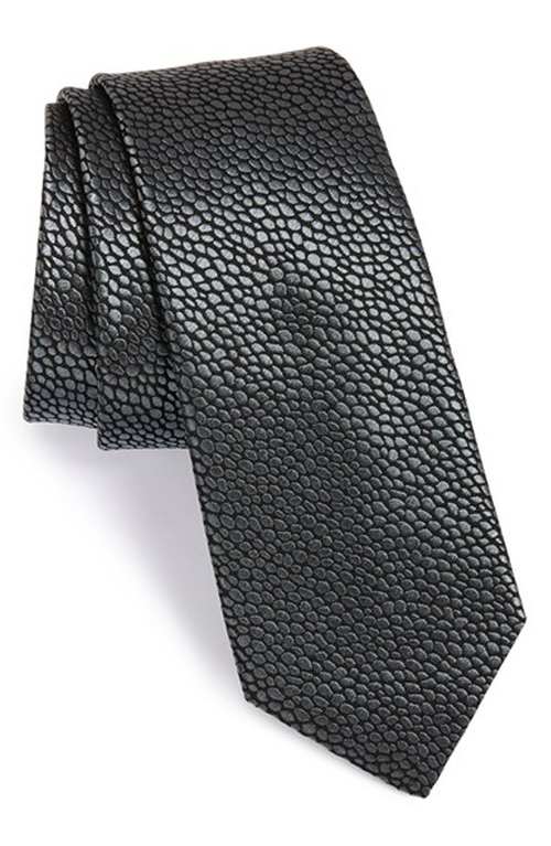 Pebble Jacquard Silk Tie by Lanvin in Side Effects