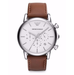 Stainless Steel Chronograph Watch by Emporio Armani in Ballers