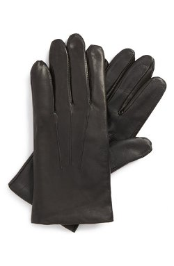 Leather Touchscreen Gloves by John W. Nordstrom in The Loft
