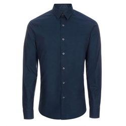 Men's Petrol Blue 'Backing Cloth' Print Shirt by Paul Smith in The Program
