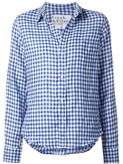 Gingham Check Shirt by Frank & Eileen in Knight and Day