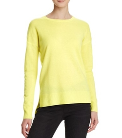 High/Low Crewneck Cashmere Sweater by Aqua Cashmere in New Girl
