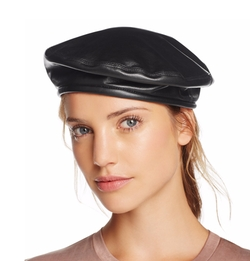 Leather Beret Hat by Eric Javits in Empire