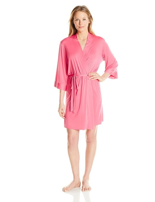 92% Polyester/8% Spandex by Josie By Natori Women's Jet Set Robe in Max