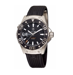 Men's Aquaracer Calibre 5 Automatic 500M Black Rubber Watch by TAG Heuer in Jack Reacher