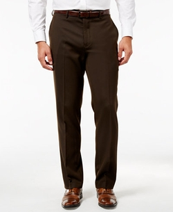Hidden Extention Straight-Fit Dress Pants by Louis Raphael in Dirk Gently's Holistic Detective Agency