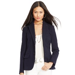 Honeycomb-Knit Cotton Blazer by Ralph Lauren in Begin Again