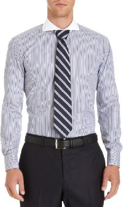 Contrast Cutaway Collar Dress Shirt by Ovadia & Sons in The Wolf of Wall Street
