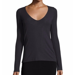 Jehane Stretch-Knit V-Neck Top by Theory in Quantico