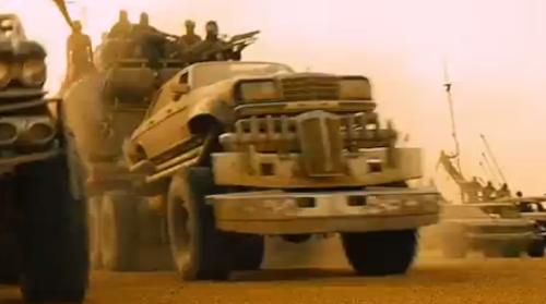 Modified 450SEL 6.9 Sedan/Monster Truck by Mercedes Benz in Mad Max: Fury Road