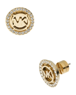 Logo Pave Stud Earrings by Michael Kors in Jem and the Holograms