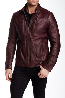 Naquinn Leather Jacket by Hugo Boss in The Flash