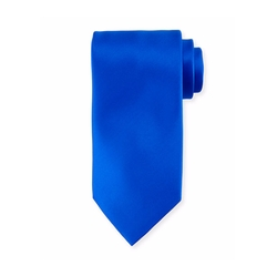 Solid Silk Satin Tie by Stefano Ricci in Power