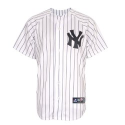 Mlb New York Yankees Home Replica Jersey, White by Majestic in Twilight