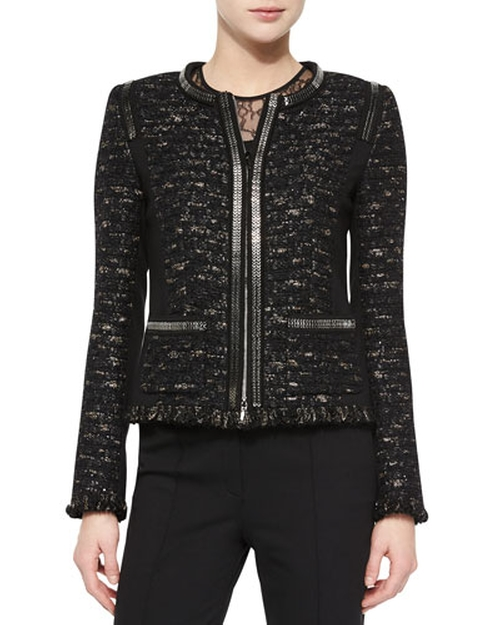 Dondi Zip-Chain Jacket by Escada in The Good Wife - Season 7 Episode 8