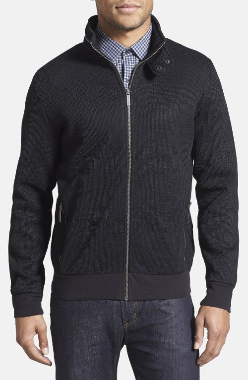 Full Zip Knit Jacket by Kenneth Cole New York in That Awkward Moment