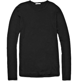 Long Sleeved Cotton Jersey T-Shirt by James Perse in Paper Towns