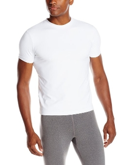 Tactel Crew Neck T-Shirt by Capezio in Cut Bank