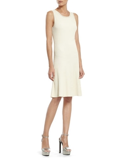 Pearl Viscose Sleeveless Dress by Gucci in Empire