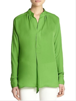 Silk Blouse by Polo Ralph Lauren in Spy