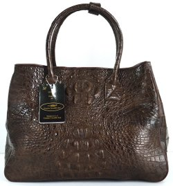 Hornback Genuine Crocodile Skin Leather Handbag by MCROC in The Gambler