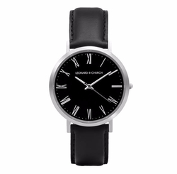 Leather Strap Watch by Leonard & Church in Quantico