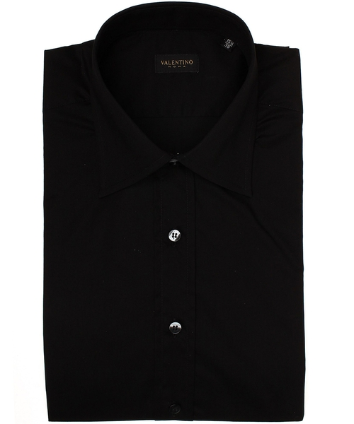 Spread Collar Stretch Cotton Dress Shirt by Valentino Roma  in Crazy, Stupid, Love.
