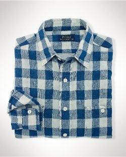 Double-Faced Gingham Workshirt by Ralph Lauren in That Awkward Moment