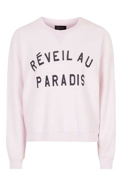 Paradise Brushed Sweatshirt by Topshop in Mistresses