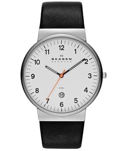 Leather Strap Watch by Skagen  in Ballers