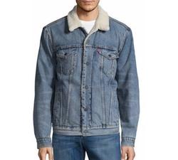 Faux Fur Collar Denim Jacket by Levi's in Love, Simon