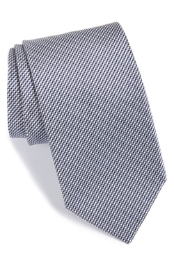 Check Silk Tie by Boss in Suits