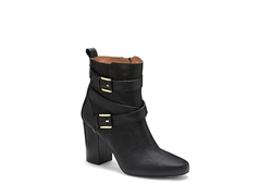Seneca- Crisscross Buckle Block Heel Bootie by Louise Et Cie in Scandal