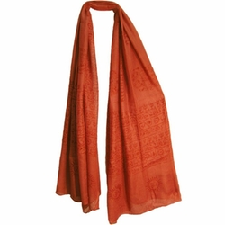 Indian Om (Aum) Sanskrit Mantra Scarf by Yoga Trendz in New Girl