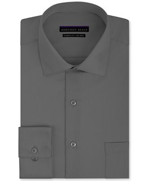 Non-Iron Sateen Solid Dress Shirt by Geoffrey Beene in Straight Outta Compton