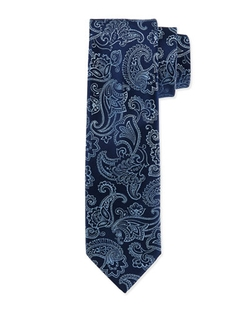Floral-Paisley Silk Tie by Charvet in The Good Wife