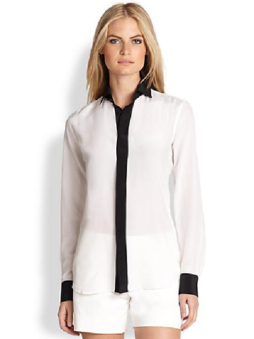 Silk Sloane Shirt by Ralph Lauren Black Label in Vampire Academy