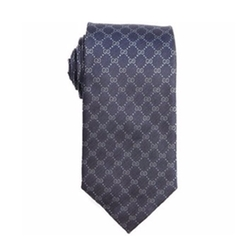 Logo Printed Silk Tie by Gucci in Suits