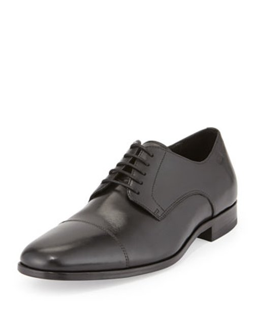 Mattion Leather Lace-Up Oxford Shoes by Hugo Boss in Black or White