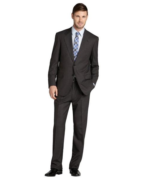 Micro Stripe Wool Two-Button Suit by Brioni in Suits - Season 5 Episode 1