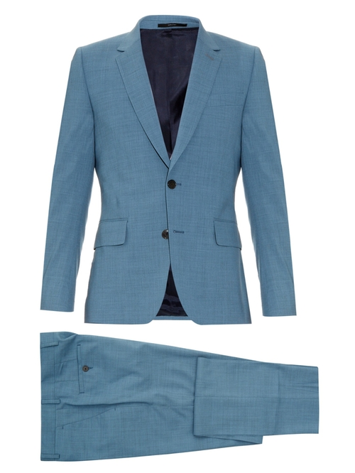 Soho-Fit Wool-Blend Suit by Paul Smith London in Vinyl - Season 1 Episode 1