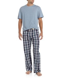 Three-Piece Lounge Set, Blue Plaid by Majestic International in Ted