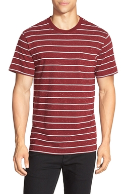 Nep Stripe Pocket Crewneck T-Shirt by Obey in Master of None